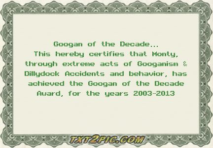 Click image for larger version.  Name:Stripers and Anglers Googan of the Decade Award.jpg Views:3 Size:24.0 KB ID:17866